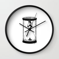 Wall Clocks featuring Our Time by Henn Kim