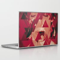 david bowie Laptop & iPad Skins featuring Bowie by Aivé Trujillo