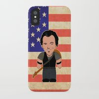 "springsteen iPhone & iPod Cases featuring The Boss by Michele ""Sonik"" Bruseghin"