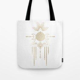 Golden Goddess Mandala Tote Bag