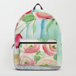 Tulips and French Enamelware Backpack