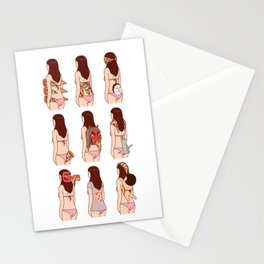 Girl & Pizza Stationery Cards