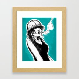 Safety First (Teal) Framed Art Print