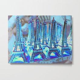 TOUR PARIS PARIS PARIS PARIS Metal Print