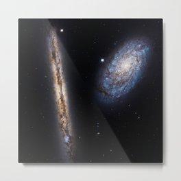 Galaxies NGC 4302 and NGC 4298 Metal Print