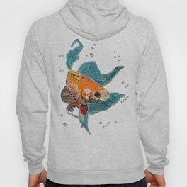 Betta Fish Scribble Art Hoody