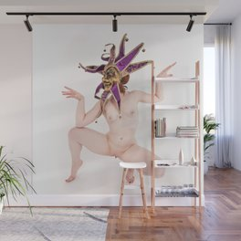 1375s-MM High Key Nude in Jester Mask Open and Free Wall Mural