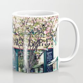 Cherry blossoms in Paris, Shakespeare & Co. Coffee Mug