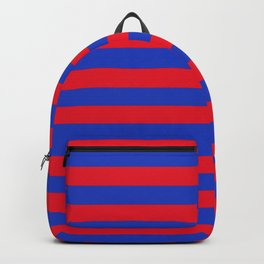 Blue and Red Stripes Backpack