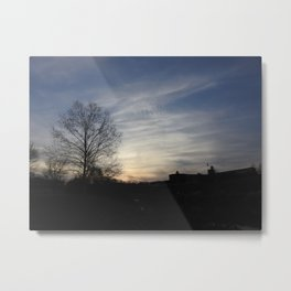 Silhouettes at Sunset Metal Print