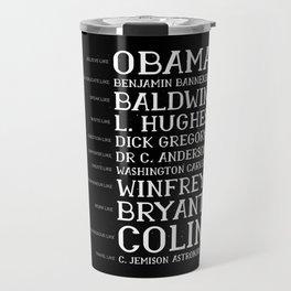 Black History Month BLM Obama Gift Travel Mug