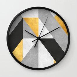 Gold Composition III Wall Clock