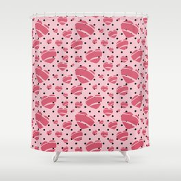 Rock a Billy Hearts - by Jezli Pacheco Shower Curtain