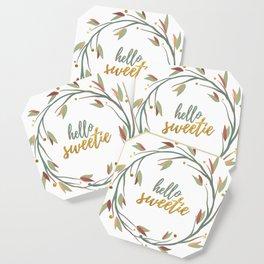 Hello Sweetie, Gold Fall Wreath 2 Coaster
