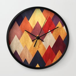 Eccentric Mountains Wall Clock