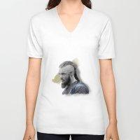 vikings V-neck T-shirts featuring Ragnar Lothbrok - Vikings by firatbilal