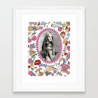 make up Framed Art Prints featuring Make Up by Keren Richter