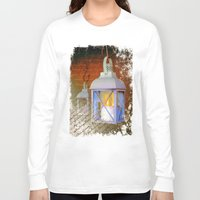 lanterns Long Sleeve T-shirts featuring White lanterns by LaDa