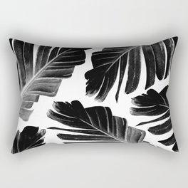 Tropical Black Banana Leaves Dream #1 #decor #art #society6 Rectangular Pillow