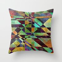 fault Throw Pillows featuring Fault Lines by Klara Acel