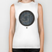 skyrim Biker Tanks featuring Shield's of Skyrim - Windhelm by VineDesign