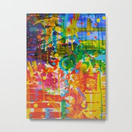 My Colour Wheel Exploded Metal Print