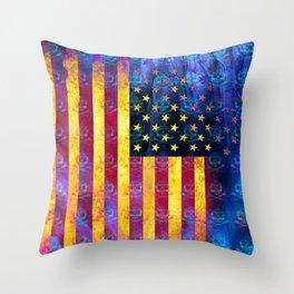 Bitter Poison Skulls: (Flag Exclusion) Throw Pillow