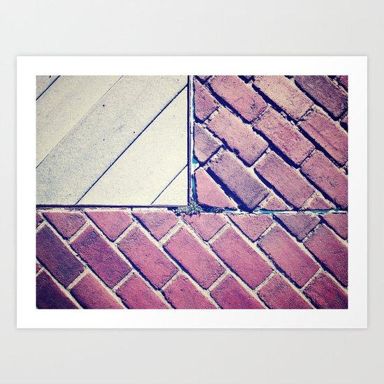 Brick Flag Art Print
