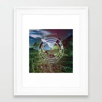 chvrches Framed Art Prints featuring Chvrches The Bones of what you believe by whatdesigns
