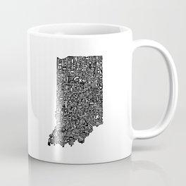 Typographic Indiana Coffee Mug