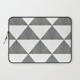 Cement White Triangles Laptop Sleeve