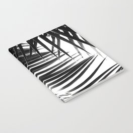 Palm Leaves Black & White Vibes #1 #tropical #decor #art #society6 Notebook