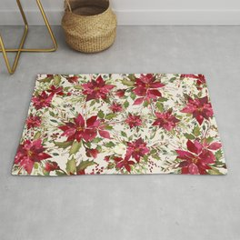 POINSETTIA - FLOWER OF THE HOLY NIGHT Rug