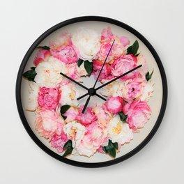 floral wreath Wall Clock