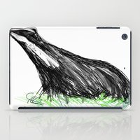 badger iPad Cases featuring Badger by James Peart