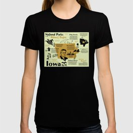 Iowa National Parks Infographic Map T-shirt