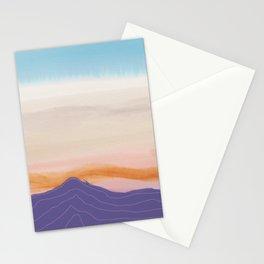 Mixed Media Sunset Stationery Cards