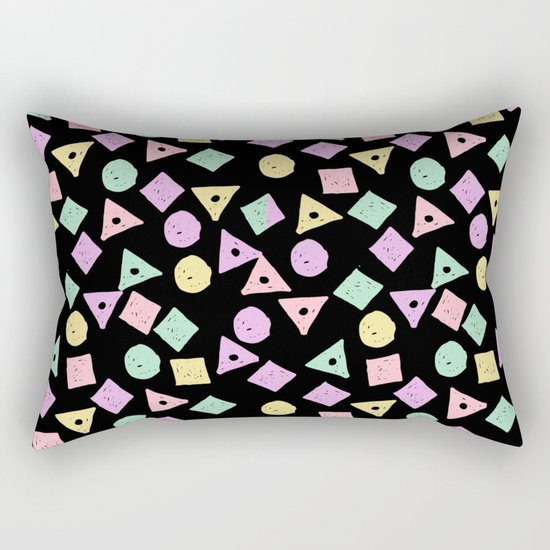 Mikkel - pastel shapes minimal abstract pattern design charlotte winter prints Rectangular Pillow