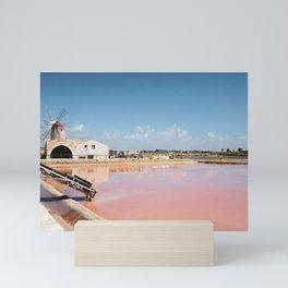 Sea Salt Pans in Sicily Mini Art Print
