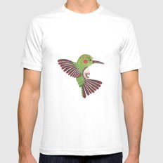The Green Hummingbird Mens Fitted Tee White SMALL