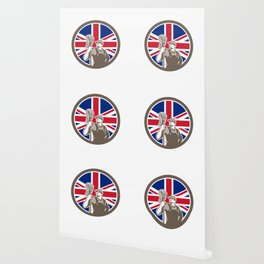 British Industrial Cleaner Union Jack Flag Icon Wallpaper