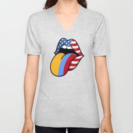 Colombian Flag, Colombian Roots Unisex V-Neck