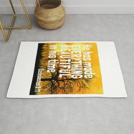 Bible King James Book Pages Verse Quotes Scriptures Story Rug