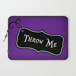 """""""Throw Me"""" Alice in Wonderland styled Bottle Tag Design in 'Shy Violets' Laptop Sleeve"""