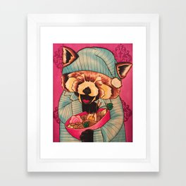 Takayuki & His Midnight Snack Framed Art Print
