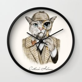 Catlock Holmes Wall Clock