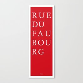 Rue du Faubourg - Paris Canvas Print