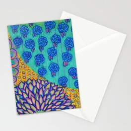 Abstract Floral - I See a Pattern Emerging Stationery Cards