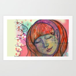 Calm Girl Art Print