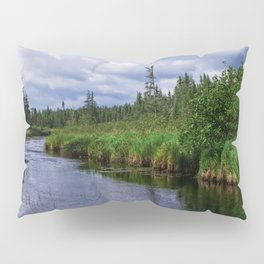 Boundary Waters Entry Point Little Indian Sioux River Bed Pillow Sham
